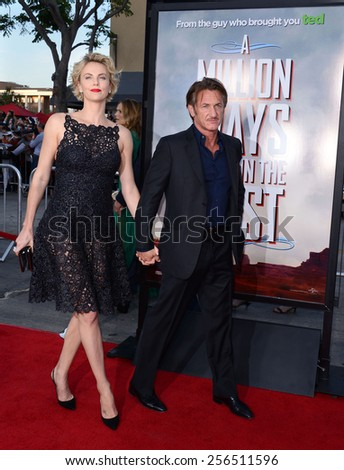 "Charlize Theron and Sean Penn at the Los Angeles premiere of ""A Million Ways To Die In The West"" held at the Regency Village Theatre in Los Angeles, United States, 150514."