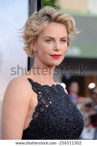 "Charlize Theron at the Los Angeles premiere of ""A Million Ways To Die In The West"" held at the Regency Village Theatre in Los Angeles, United States, 150514.  - stock photo"