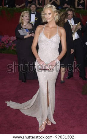 CHARLIZE THERON at the 76th Annual Academy Awards in Hollywood. February 29, 2004