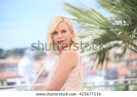 Charlize Theron attends the 'The Last Face' Photocall at the annual 69th Cannes Film Festival at Palais des Festivals on May 20, 2016 in Cannes, France. - stock photo
