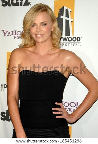 Charlize Theron, wearing a top by The Row, at The Hollywood Film Awards, Beverly Hilton Hotel, Beverly Hills, NY October 26, 2009