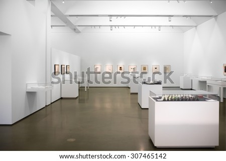 CHARLOTTE - AUGUST 17: Interior of The Bechtler Museum of Modern Art. Opened in 2010. The Museum is part of the Levine Center in Uptown and was designed by architect Mario Botta. NC August 17, 2015.  - stock photo