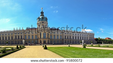 Charlottenburg palace with garden in Berlin, Germany.