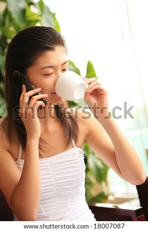 Charming Asian Woman - stock photo