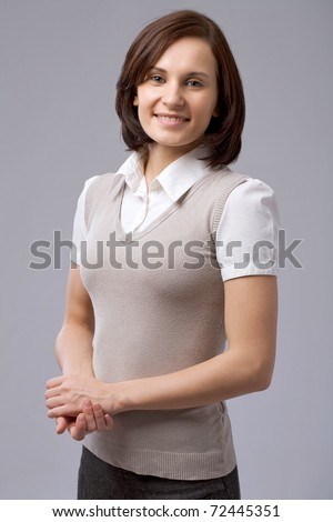 Charming business woman - stock photo