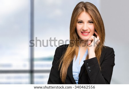 Charming businesswoman portrait - stock photo