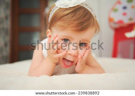 charming girl having fun - stock photo