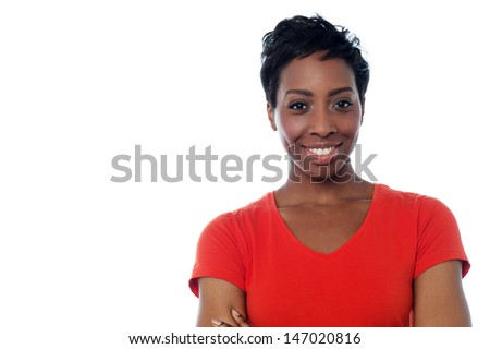 Charming middle aged african woman - stock photo