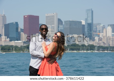 Charming partners Outdoors - stock photo