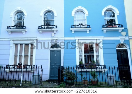 Charming town houses in North London - stock photo