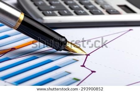 Chart, Business, Graph. - stock photo