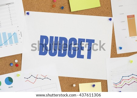 CHART BUSINESS GRAPH RESULT COMPANY BUDGET CONCEPT - stock photo
