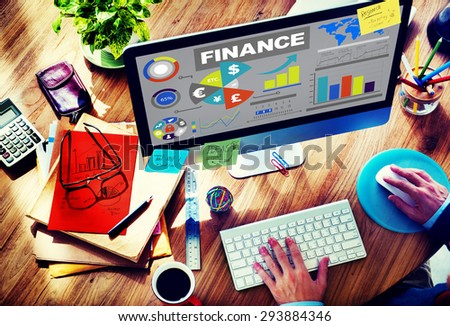 Chart Currency Loan Financial Growth Strategy Plan Concept - stock photo