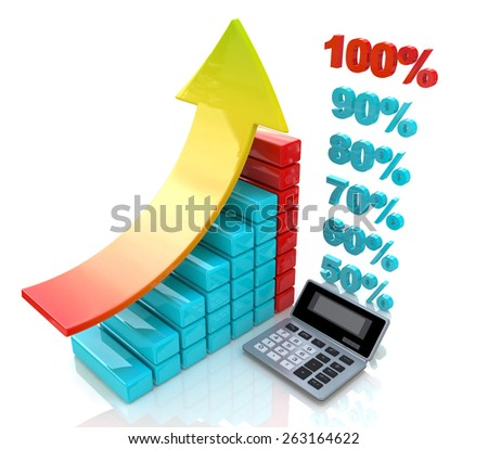 Chart economic profit  - stock photo
