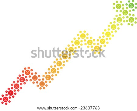 Chart from smiles - stock photo