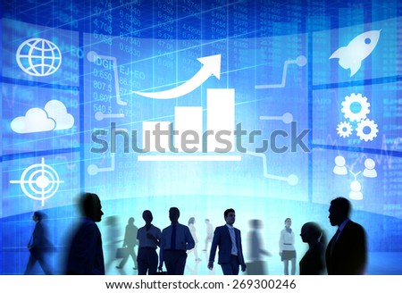 Chart Graph Growth Collaboration Team Teamwork Professional Concept - stock photo