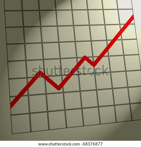 Chart Increase / Profit / Up - stock photo