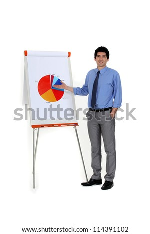 Chart showing the energy efficiency - stock photo