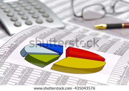 chart shows success at stock market - stock photo