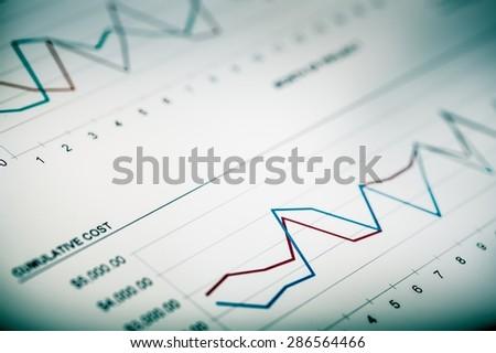 Chart, Stock Market, Analyzing. - stock photo