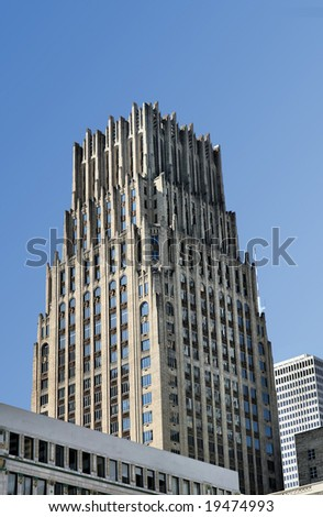 Chase Building, Houston, TX, USA(Release Information: Editorial Use Only. Use of this image in advertising or for promotional purposes is prohibited.) - stock photo