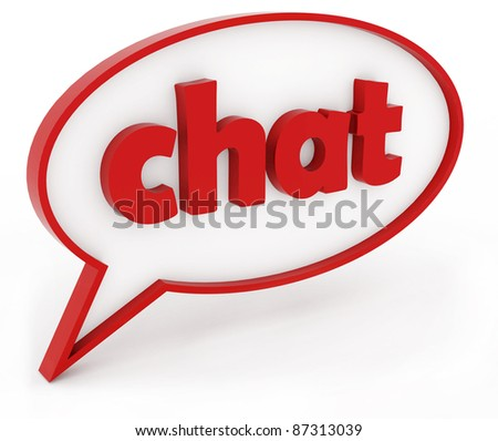chat - stock photo