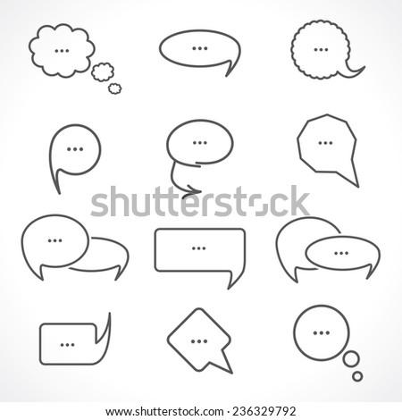 chat bubbles - stock photo