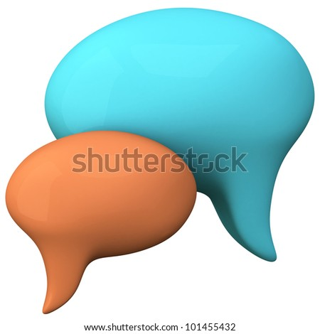 Chat icon 3d - stock photo