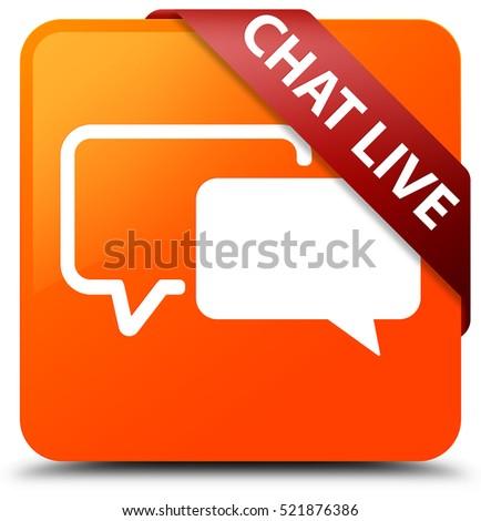 Yellow social media paper origami speech stock - Chat orange ...