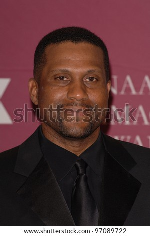 Chat show host TAVIS SMILEY at the 36th Annual NAACP Image Awards in Los Angeles. March 19, 2005: Los Angeles, CA.  Paul Smith / Featureflash - stock photo