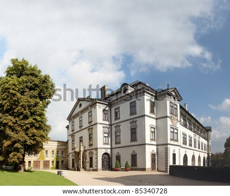 Chateau and museum in Velke Mezirici,  Czech republic. - stock photo