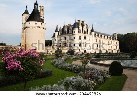 Chateau de Chenonceau, Loire Valley - stock photo