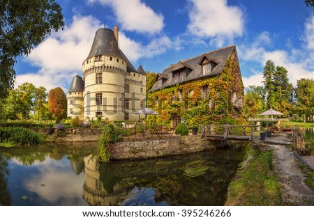 Chateau de L Islette, France. Chateau of the Loire Valley.