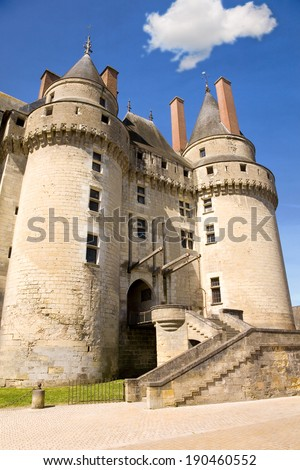 Chateau de Langeais in Loire Valley, France - stock photo