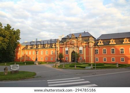 Chateau Dobris, Czech republic - stock photo