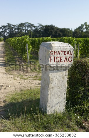 Chateau Figeac Saint-Emilion - stock photo