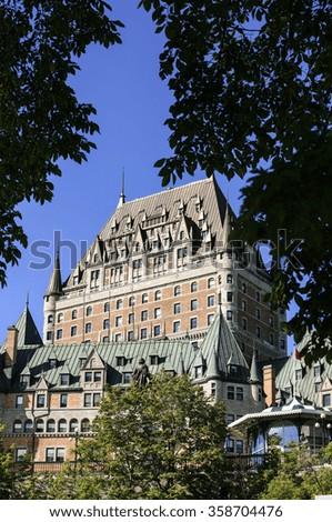 Chateau Frontenac Hotel. - stock photo