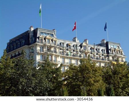 chateau in Switzerland - stock photo