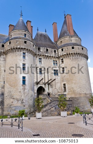 Chateau Langeais, Loire Valley, France. - stock photo