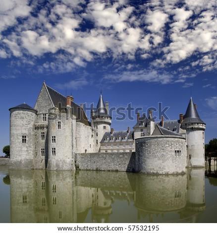 Chateau Sully-sur-Loire, Loire Valley, France, UNESCO - stock photo