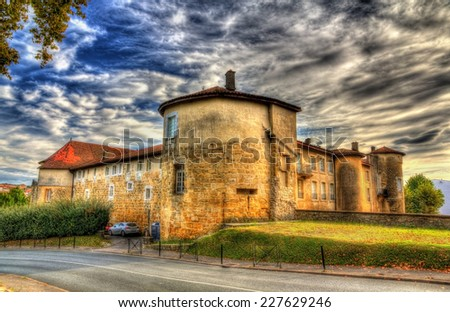 Chateau-Vieux (Old Castle) in Bayonne, France - stock photo