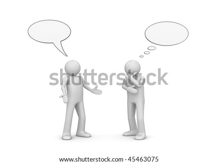 Chatting generation (3d isolated characters series) - stock photo