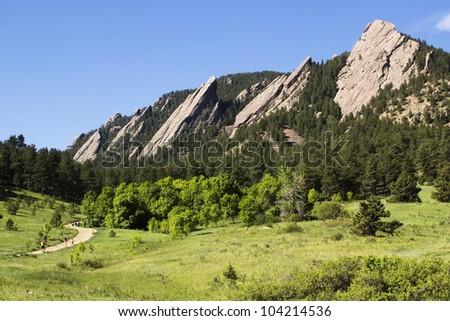 Chautauqua Park in Boulder Colorado - stock photo