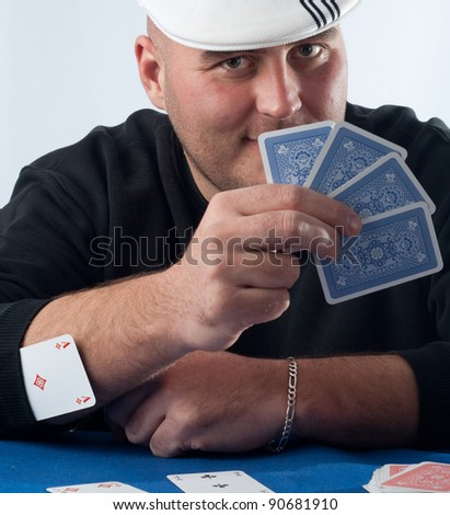 Cheating card player