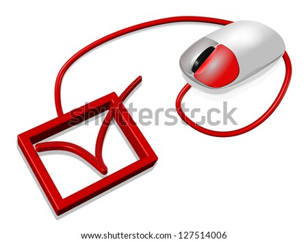 check in mouse computer - stock photo