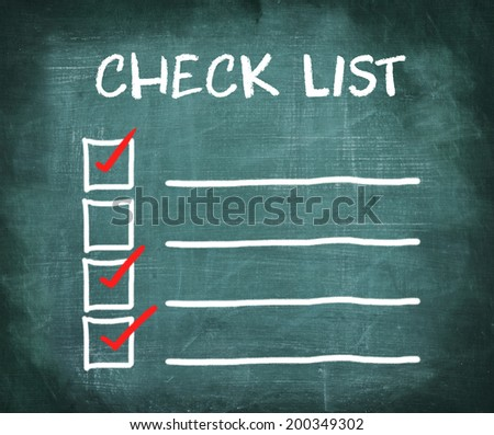 check list , check marks - stock photo