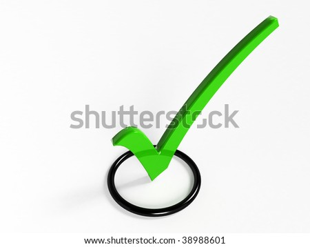 Check list Symbol (3D rendering)