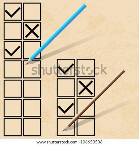 Check list. Vector illustration - stock photo