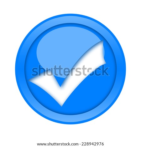 Check mark button - stock photo