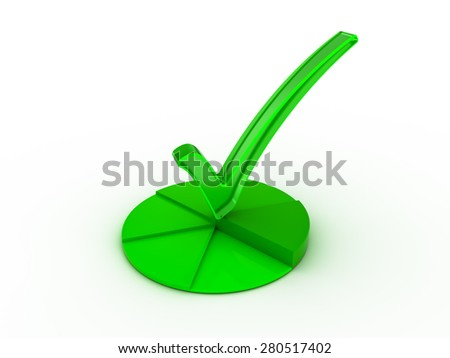 Check  mark icon. - stock photo